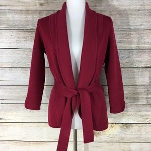 Madison Cardigan Jacket Sweater Tie Belt Closure